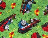 Thomas Train 43x35 NEW Lime Green Crib Play Throw Quilt - 855