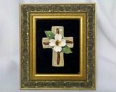 Framed Dogwood Cross
