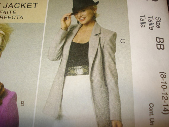 McCall's jacket pattern in three lengths