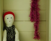Red Haired Cloth Calliope Rag Doll, Annabel, Vegan, 15 inches, OOAK, Vintage Upcycled Fabrics, Handmade in Australia