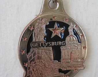 Gettysburg Necklace Silver Vintage Pendant