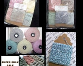 1950 feet SUPER BULK Sale Baker's Twine on Chipboard Hanging Tags, Value Sampler Pack of ALL 13 Colors Available