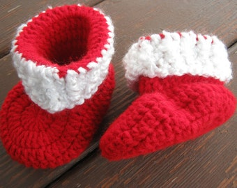 Santa Baby Booties Photo Prop