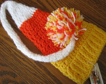Candy Corn Halloween Pixie Hat Photography Prop