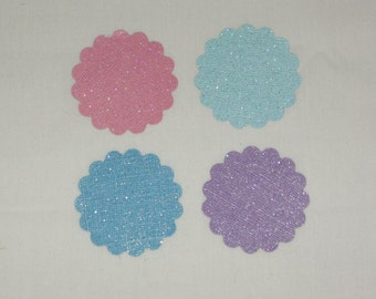 Diamond Bling Scalloped circles