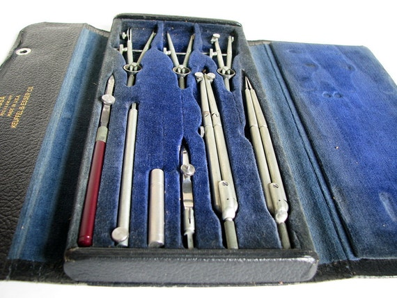 Vintage Minusa Drafting Set from Keuffel and Esser No. 795 1/2