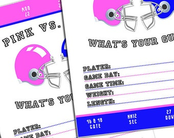 PRINTABLE BOLD Whats your guess Gender Reveal Party Game