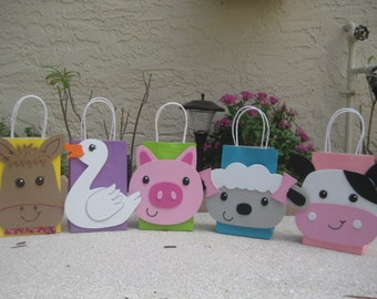 Farm Animal Birthday Party Favor Bag