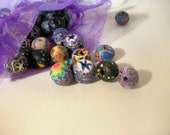 Destash Multi Colored Fimo  Beads