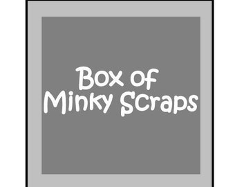 Box of Minky Yardage and Scraps