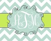 Custom personalized chevron notecards thank you notes children notecards bridal notes wedding baby shower