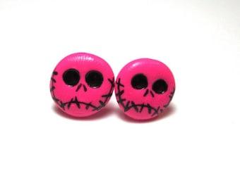 Pink Jack Skeleton Studs