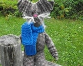 Barn Cat Wool Recycled Hand Made Friendly Pet for Adoption