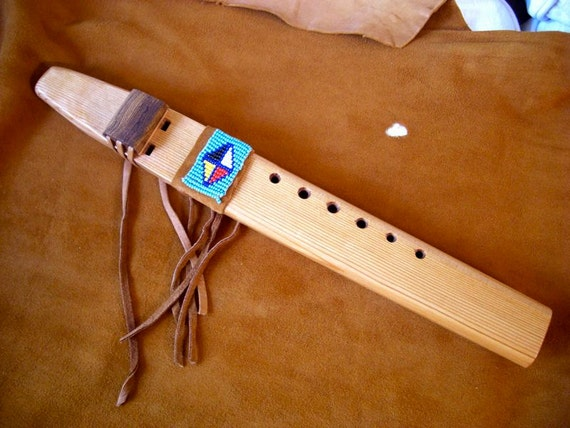 Am Drone Flute with Beaded Wrap Reserved for Megan