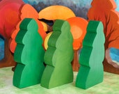 Waldorf Toy, All Season Rounded Pine Set - Landscape Play