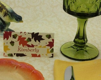Editable place cards Autumn place cards