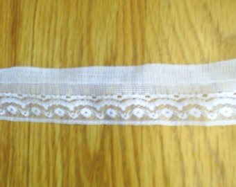 Lace Trim Wide White New 17 plus yards