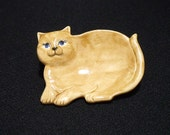 SALE! Caramel Cats with Blue Eyes (Pair) - Ceramic Tea Bag Holder