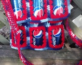 RESERVED FOR Monique Quiles- Soda Can Purse Pepsi Tye Dye