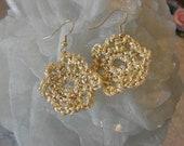 Gold Crochet Hippie Chic Earrings
