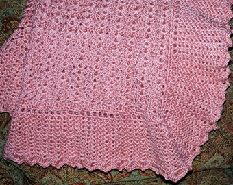 Peach Heirloom Baby Blanket