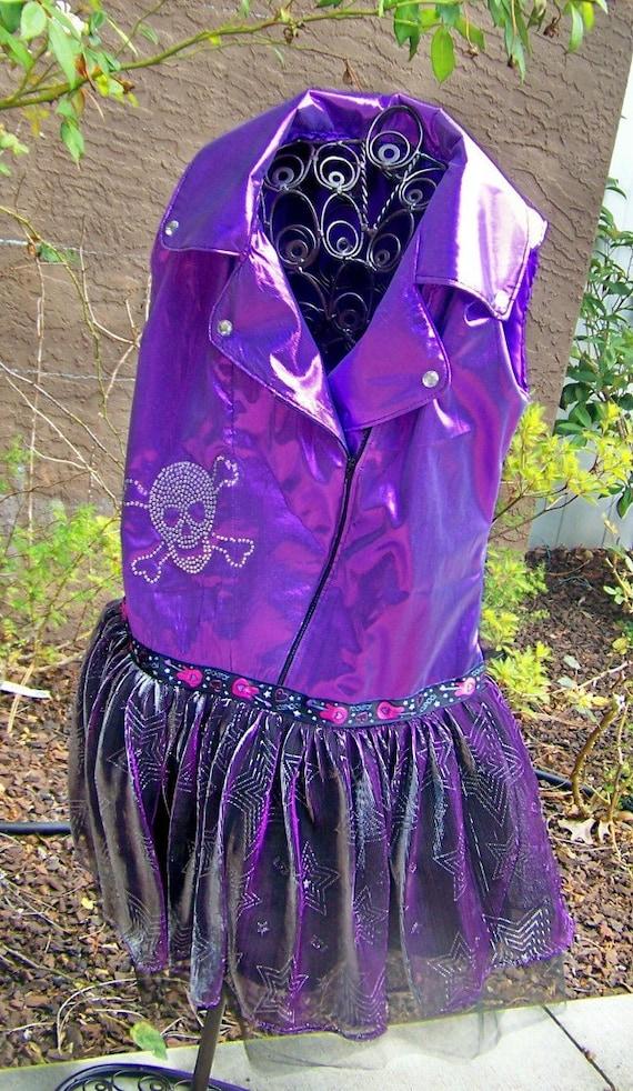 Rock Star Tutu Dress custom made For your ultimate diva Punk rock Princess for Halloween, Birthday, Dress up