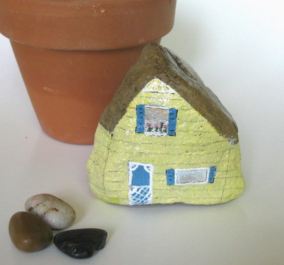 Hand Painted Rock House Old South Florida