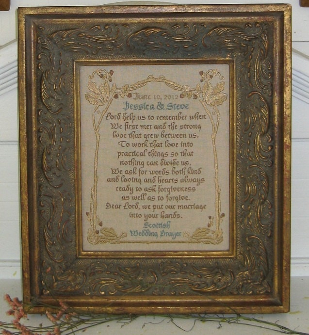 Scottish Wedding Gifts: Personalize Handmade Scottish Wedding Prayer Gift Lord Help Us