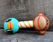 Custom for Meghan Bluebird Monkey Rattle