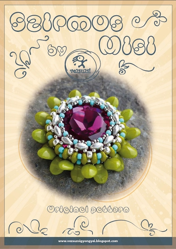 pendant tutorial / pattern Szirmos Misi pendant with superduo...PDF instruction for personal use only