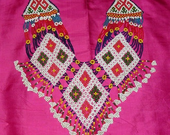 1970s Large Vintage Tribal Afghan Beaded Bib Neck Piece