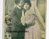 LOVE-MATCH - LOVERS - 1905 - Early French  Photo Postcard