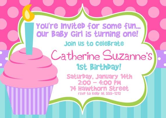 cupcake birthday invitations – gangcraft, Birthday invitations