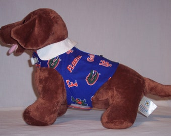 Florida Gator Print Harness Shirt with White Collar