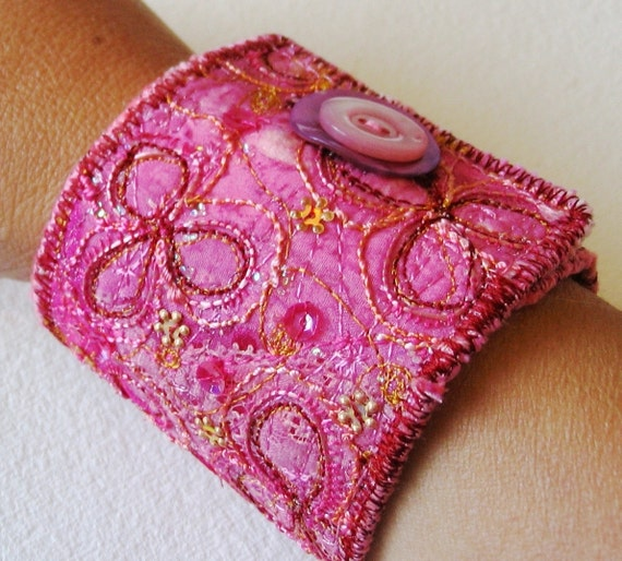 Embroidery pattern how to tutorial pdf textile jewellery