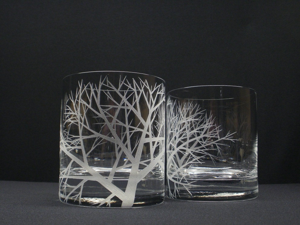 Engraved Double Old Fashioned Glasses