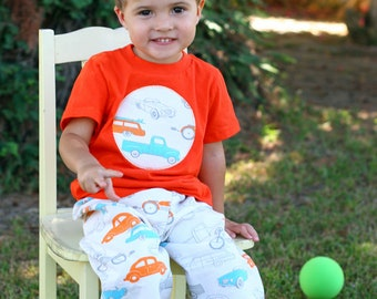 Vintage CARS Baby and Toddler BOYS Lounge PANTS Newborn to 5T