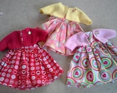 "9 pcs. Made for an American Girl Doll 18"", Handmade Dress and Jacket Lot, Sweetie Weetie's By Jacqui"