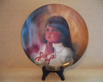 Vintage Donald Zolan Collectible Plate, A Christmas Prayer, Pemberton Oakes, Decorative Plate, Wall Art