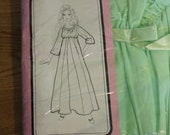 60s lime green nightgown NOS in original packaging Large
