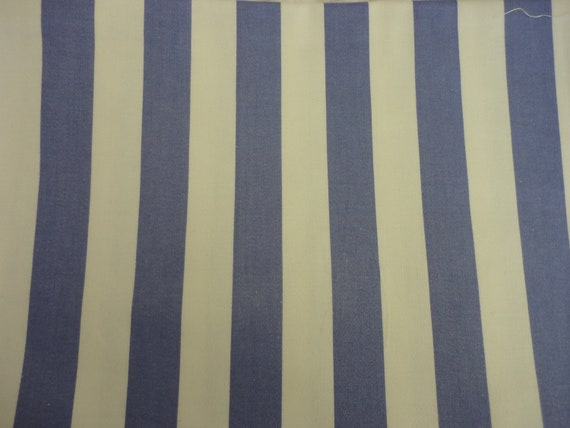 Cotton Upholstery Fabric, Periwinkle Blue Polished Cotton Stripe 1 Yard