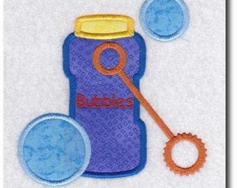 Applique Bubbles Embroidery Design Includes 3 Sizes