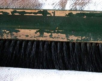 Old Green Chippy Paint Wallpaper Brush