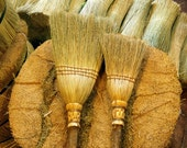 Mother's Helper Broom Set in your choice of Natural, Black, Rust or Mixed Broomcorn