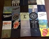 Custom Tshirt Memory Blanket Quilt For Him Memories kept FOREVER