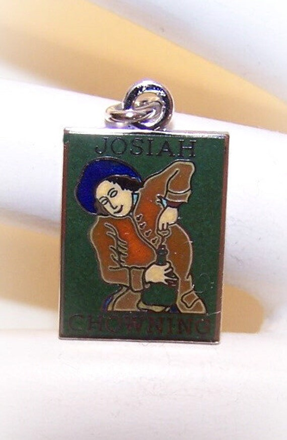 Vintage STERLING SILVER & Enamel Charm for the Josiah Chowning Tavern...