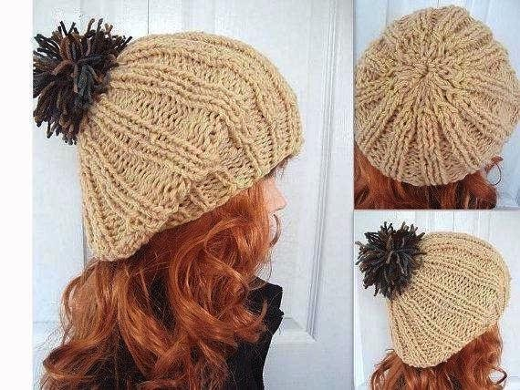 KNITTING PATTERN Hat pdf  num. 426. MAUREEN, knitted beret tam, age 8 to adult, ok to sell your finished hats