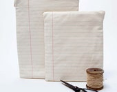 SALE  lined paper ipad case