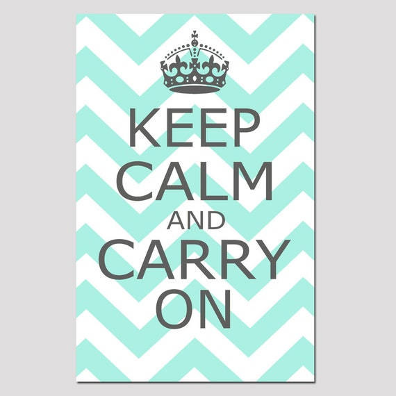 keep calm and carry on 11x17 chevron edition poster size. Black Bedroom Furniture Sets. Home Design Ideas