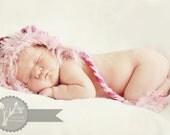 Newborn Baby Hat,Newborn Baby Hat Crochet, Baby Winter Hats, Baby Hats for Girls, Baby Beanies, Handmade Baby Hat in Gray and Pink